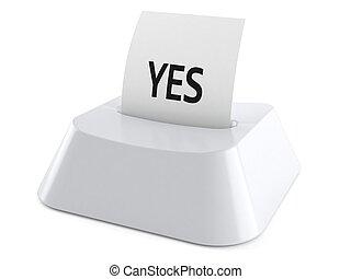 en línea, votación, concepto