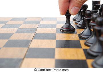 en mouvement, échecs