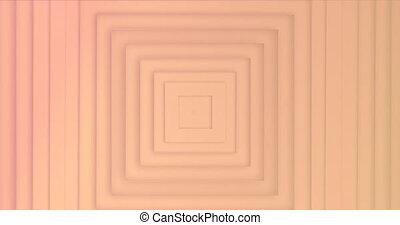 en mouvement, carrés, orange