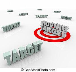en mouvement, cible, changer, plan, stratégie, trouver,...