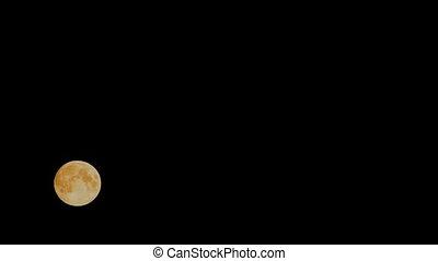 en mouvement, ciel, lune