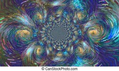 en mouvement, couleurs, fractal, doux, pastel