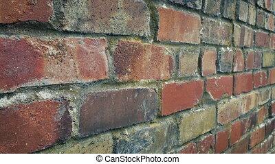 en mouvement, coup, mur, brique