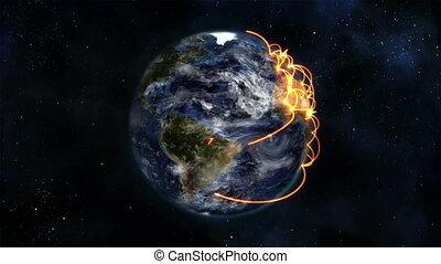 en mouvement, la terre, itself, tourner