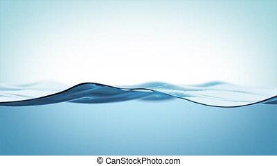 en mouvement, remplissage, surface, ultra, haut, eau, jeûne...