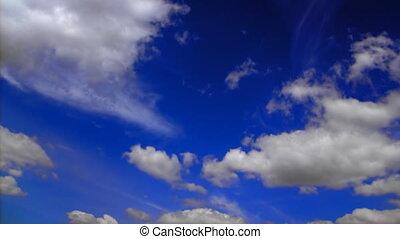 en mouvement, timelapse couvre, ciel