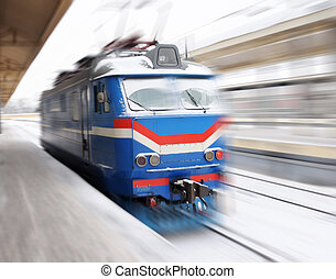 en mouvement, train
