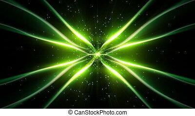 en mouvement, vert, raies