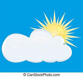 en parte nublado
