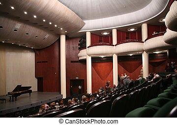 en, sala de conciertos