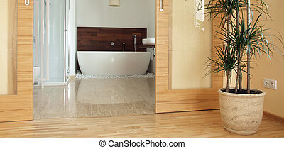 En suite parents' bathroom - View of a modern en suite...