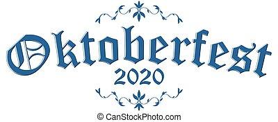 en-tête, oktoberfest, 2020, texte