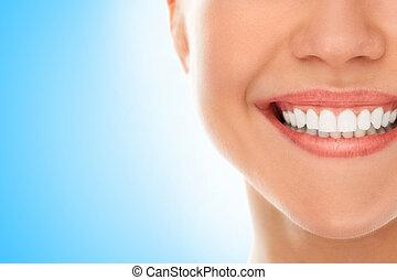 en, un, dentista, con, un, sonrisa