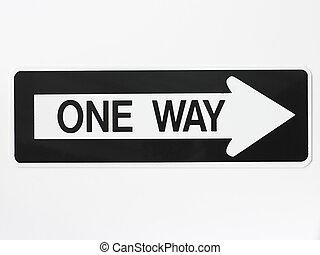 en väg, vägmärke
