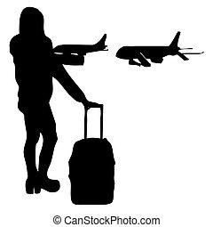 en, viajar, bis.eps, avion