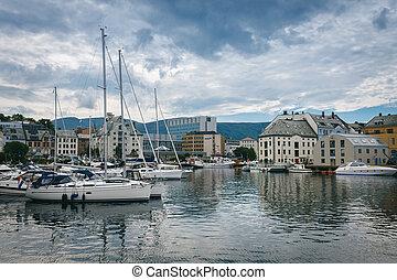 en ville, alesund, norvège