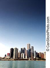 en ville, horizon, chicago