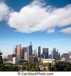 en ville, la, angeles, los, horizon, californie