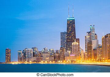 en ville, michigan, lac, chicago