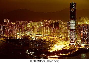 en ville, nuit