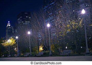 en ville, parc