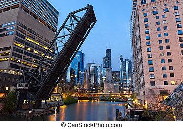 en ville, riverside., chicago