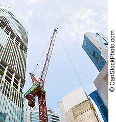 en ville, site construction, singapour