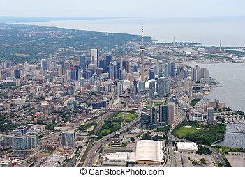 en ville, toronto, vue aérienne