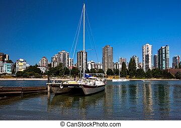en ville, vancouver, catamaran, croiser