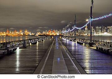 en ville, vancouver, port