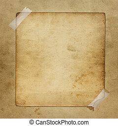 enajenado, anuncio, resumen, papel, plano de fondo