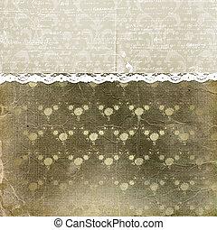 enajenado, encaje, ornamento, cubierta, floral, photoalbum