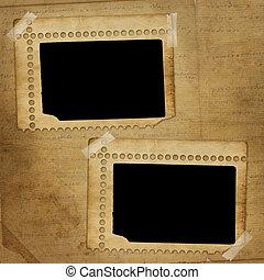 enajenado, marco de la foto, resumen, plano de fondo