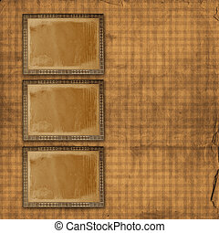 enajenado, ornamental, utilizado, oro, anuncio, papel, plano...