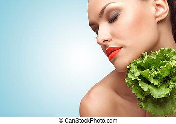 enamorado, con, greens.