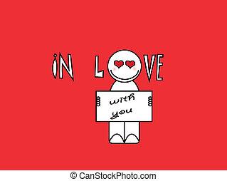 enamorado, con, usted