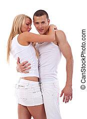 Enamoured young couple