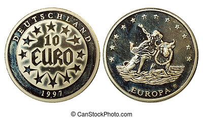 enastående, mynt, av, tyskland