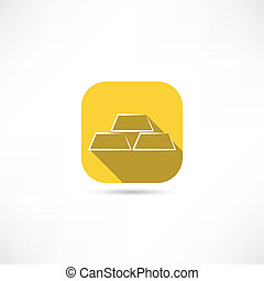 encaisse-or, or, icône