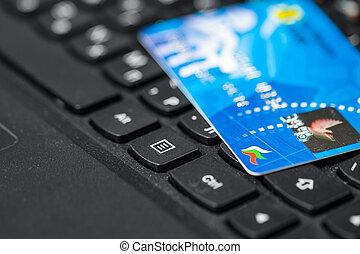 encaisser ligne, carte, crédit