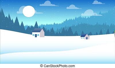 encaisseur, glace, matériel, neige, hiver