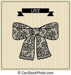 encaje, lace., vendimia, ornament., plano de fondo, floral