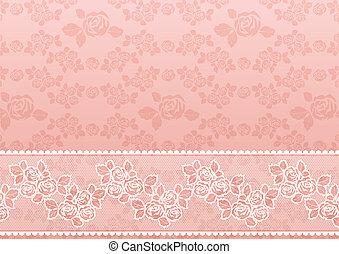 encaje, rosa