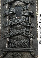encaje, shoe., textura