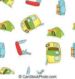 Encampment pattern, cartoon style