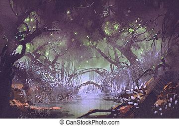 encantado, bosque