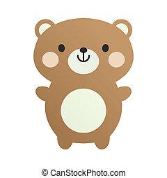 encantador, brinquedo, urso, pelúcia