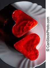 encantador, heart-shaped, bolos