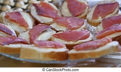 encas, fish, petit déjeuner, sandwichs, viande, pain