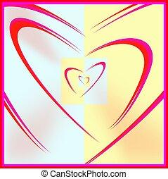 encased hearts